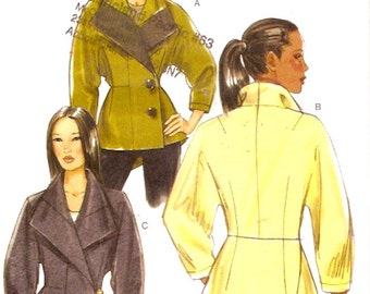 Autumn lined jacket Casual chic style sewing pattern Vogue 8627 UNCUT Size 8 to 14