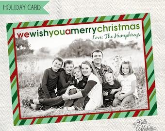 Customizable Photo Christmas Card - Digital File You Print