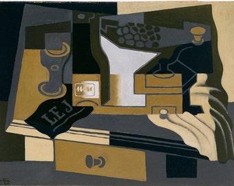 Juan Gris: Le Moulin à Café (Coffee Grinder). Fine Art Print/Poster. (003117)