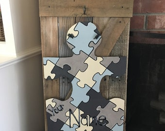 Autism Door Hanger//Autism Awareness//Autism Sign//Autism Awareness//Autistic Door Decor//Autistic//Autism Puzzle Piece//Autism Speaks//