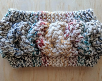 Cabled Ear Warmer in Hudson Bay (Loom Knit)
