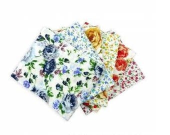 The Craft Cotton Company Fat Quarter Bundle SPRING FLOWERS