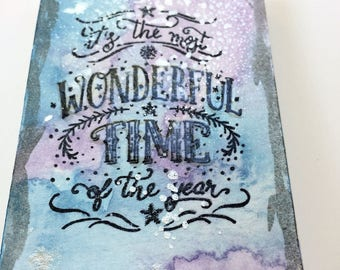 It's the Most Wonderful Time - Watercolor Painting
