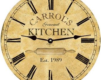 Kitchen Clock- Personalized Kitchen Clock