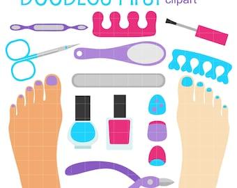 pedicure clip art etsy rh etsy com pedicure cartoon clipart manicure pedicure clipart