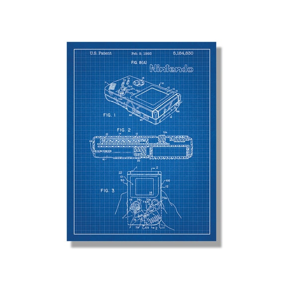 Nintendo game boy screen print handheld video game gameboy nintendo game boy screen print handheld video game gameboy patent print poster art japan blueprint design malvernweather Image collections