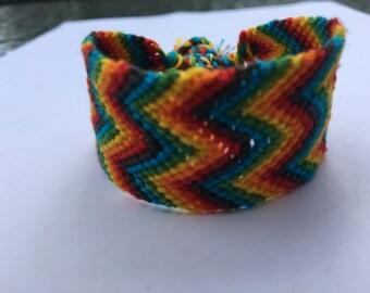 Zig Zag Rainbow Bracelet