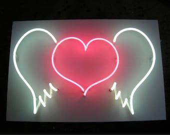 Neon Love heart, neon signs  ideal valentines present