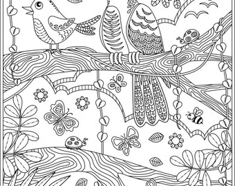 2 Printable Coloring Pages; Relax and Stay Calm Coloring Pages plus the version without the texts;  Digital downloads