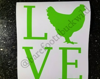 Chicken love Decal | YETI Decal | Country Decal | TUMBLER Decal | Car Decal | Laptop Decal | Farm Decal | Chicken Decal