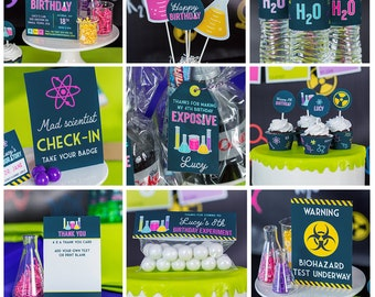 Girls Science Party Decorations - Girls Science Birthday Decorations - Mad Scientist Party - Science Lab Decorations - Science Experiment