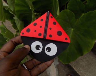 X-Large Red and Black Ladybug Bookmark