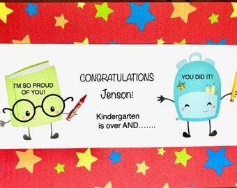 End Of Year School Congratulations-Nursery School-Kindergarten-Pre-K-First Grade-Son-Daughter-Grandson-Granddaughter-Niece-Godchild-Anyone