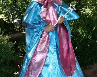 Cinderella's FAIRY GODMOTHER Costume Custom Child Sz