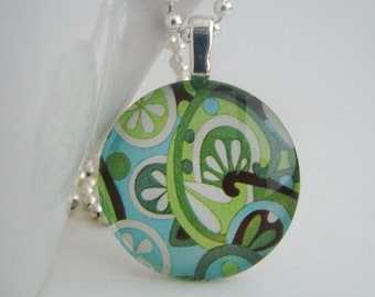 It's Easy Being Green Pendant with Free Necklace