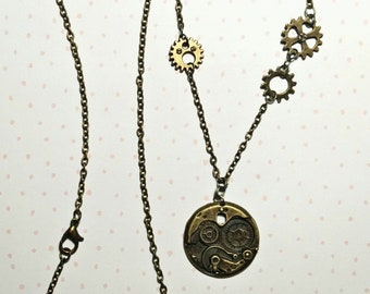 Steampunk Gears Necklace A
