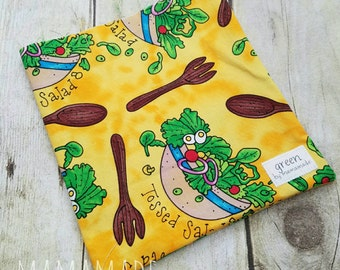 Tossed Salad - Reusable Sandwich Bag | Snack Bag | Waterproof | Travel Bag from green by mamamade