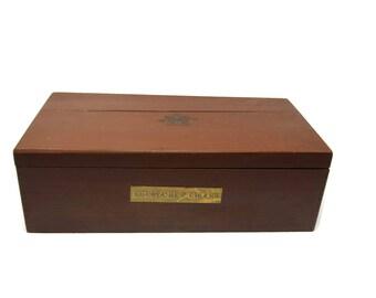 Vintage Large Cigar Box, Vintage Cuesta Rey Cigar Ambassador Cabinet Tobacciana, Drug Store Display Compartment Cigars Box Tampa Florida