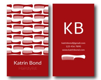 Salon business card etsy eps files hairstylist business cards hair stylist business cards stylist business cards reheart Images
