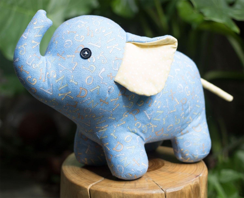 Stuffed elephant pdf sewing pattern tutorial stuffed zoom jeuxipadfo Gallery
