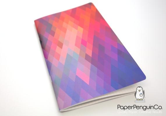 Midori Insert Geometric Diamonds Travelers Notebook Regular A5 Wide B6 Personal A6 Pocket Field Notes Passport Mini Micro Grid Dots Lined