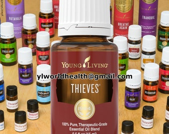 Young Living Thieves Essential Oil sample; 1mL, 1.5mL, 2mL, 3mL sample