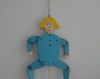 Vintage Pull String Wooden Puppet