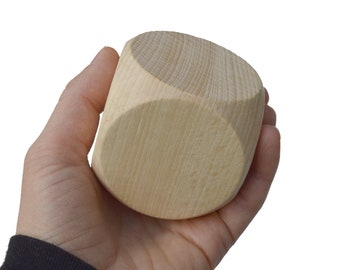 1 cube of solid beech wood - 60 x 60 x 60 mm