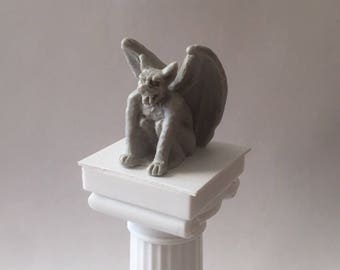 Detailed Miniature Gargoyle for Gothic Dollhouse Decorations and other Fantasy Myth Diorama projects - 1:12 Scale