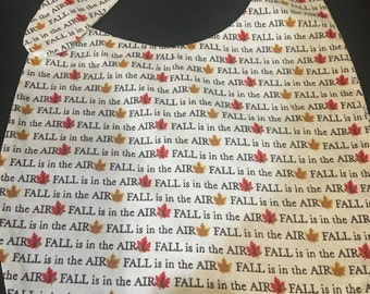 Baby Bib Fall is in the Air thmes fabric