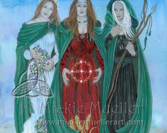Blessings of the Triple Goddess Print