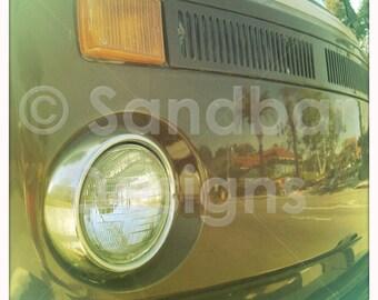 4 x 4 photo card-Chocolate VW bus