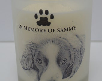 Personalised Pet Memorial Candle. Faithful Companion, forever remembered. Unique Gift Idea. Handmade. Fully Customizable.