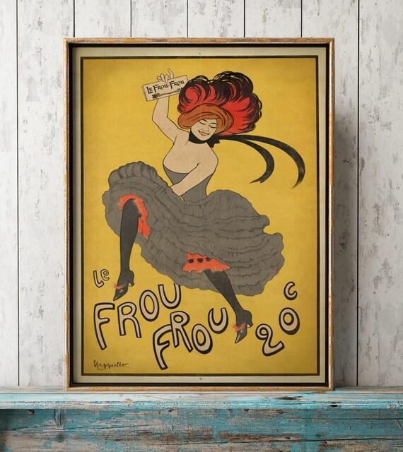 Art Nouveau POSTER Vintage Can Can DANCER ad Print Dance