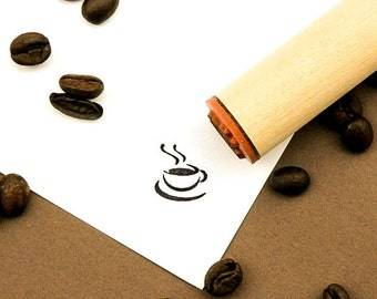 Hot Coffee Rubber Stamp