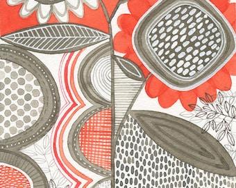 No.10, ORIGINAL watercolour, abstract floral, botanical, art, wall art, home decor