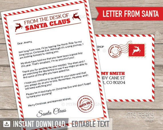 Official Letter From Santa Template Idas Ponderresearch Co