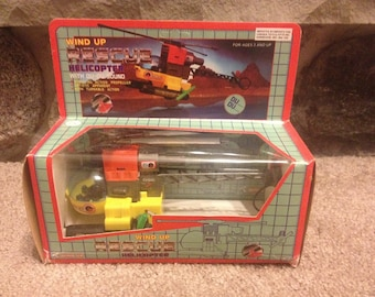 Vintage Wind-up Rescue Helicopter by Ever Last