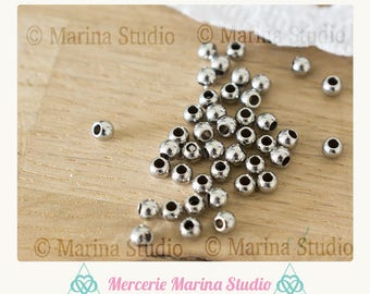 20 beads 2mm stainless steel