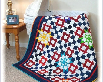 Star Light Quilt Pattern PDF #421e