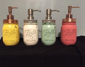 Mason Jar Soap Dispenser, Rustic Soap Dispenser, Bathroom/Kitchen Decor, Farm House Soap Dispenser