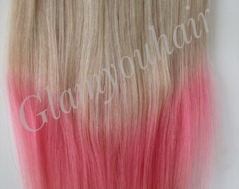 "18"" 100g -HALO-Secret -Miracle wire OMBRE -100% Human Hair extensions. 100g"