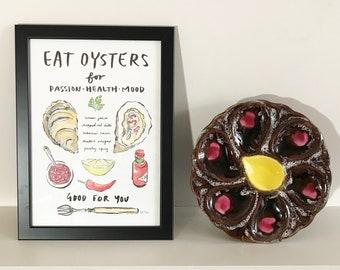 Eat Oysters Art Print