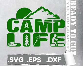 Camper SVG / Camping Vector / Camping Life / Happy Camper SVG / Camping SVG / Camping Clip art / svg Files for Cricut / Silhouette