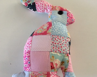"""Rabbit"" patchwork pillow"