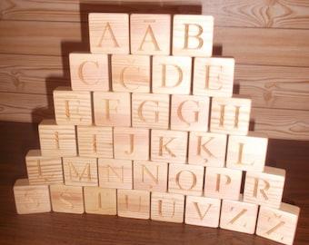 Wooden Latvian alphabet blocks, Educational gift, Handmade wooden blocks, Toy, Gift, Wooden alphabet, Wood, ABC