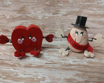 Adorable Valentine's day Cupid and Heart guy shelf sitters