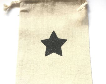 Small pocket with DrawString with Black Star