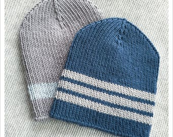 HAT KNITTING PATTERN - Sporty Beanie