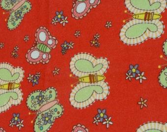 Butterflies and Flowers Burp Cloth